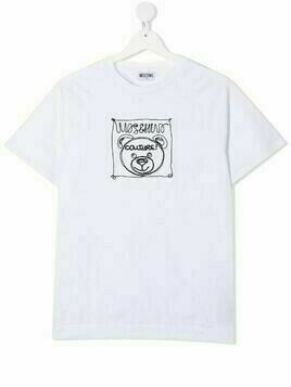 Moschino Kids TEEN logo embroidered teddy t-shirt - White
