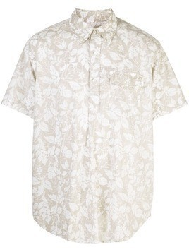 Engineered Garments floral short-sleeved shirt - Brown