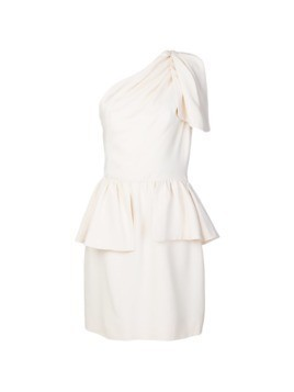 Yves Saint Laurent Vintage single shoulder peplum dress - White