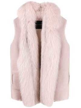 Blancha sleeveless fur gilet - Pink