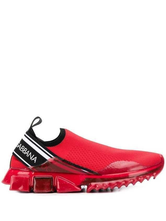 Dolce & Gabbana sorrento melt sneakers - Red