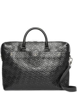 Burberry Triple Stud Monogram Leather Briefcase - Black