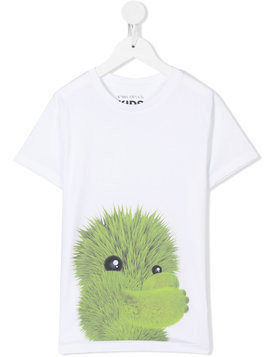 Ioana Ciolacu Kids monster print T-shirt - White