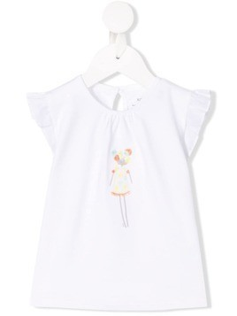 Knot Doll embroidered T-shirt - White