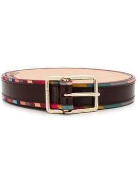 Paul Smith stripe trim belt - PURPLE