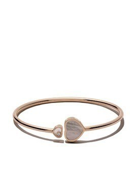 Chopard 18kt rose gold Happy Hearts mother-of-pearl and diamond bangle
