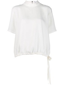 Mira Mikati puffball zip detail top - White