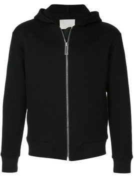 Dion Lee Chevron zip hoodie - Black