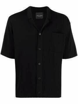 Roberto Collina notched-collar short-sleeve shirt - Black