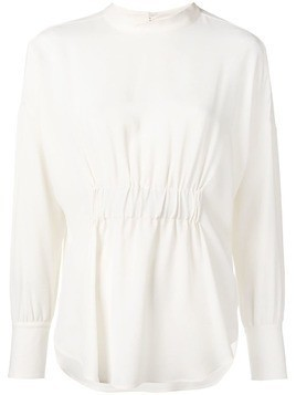 Glanshirt ruched blouse - Neutrals