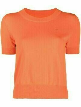 Maison Margiela knitted short sleeve top - ORANGE