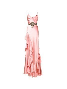 Gucci ruffle slip gown - Pink&Purple