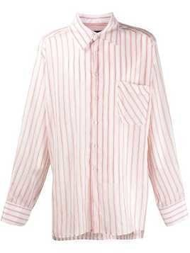 Botter oversize striped shirt - White
