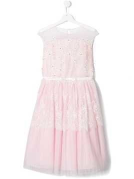 Lesy TEEN floral lace tulle dress - Pink
