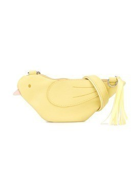 Familiar bird shaped clutch bag - Yellow