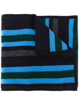 Pringle Of Scotland striped knitted scarf - Blue