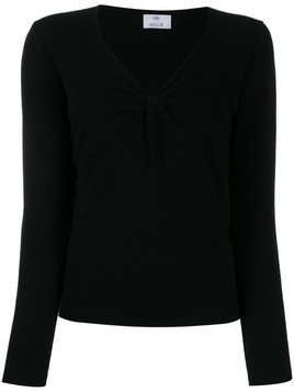 Allude V-neck sweater - Black