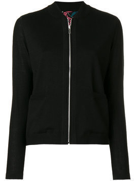 Ps By Paul Smith - jersey bomber jacket - Damen - Triacetate/Polyurethane - XL - Black