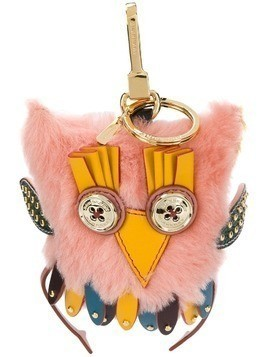 Burberry owl keyring - Pink & Purple