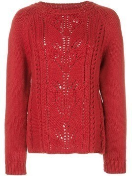 Brock Collection Omeopata cable knit sweater - Red