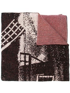 Bernhard Willhelm windmill scarf - Red
