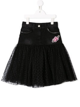 Monnalisa denim tutu panelled skirt - Black