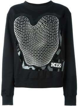 KTZ brick print sweatshirt - Black