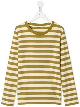 Fith TEEN striped long sleeve top - Brown