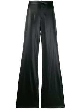 T By Alexander Wang coated flared trousers - Black