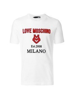 Love Moschino applique logo T-shirt - White