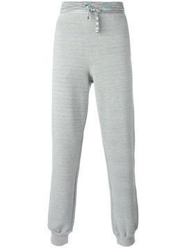 Zoe Karssen straight leg track pants - Green