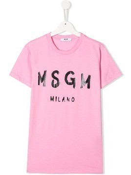 Msgm Kids TEEN freehand T-shirt - Pink