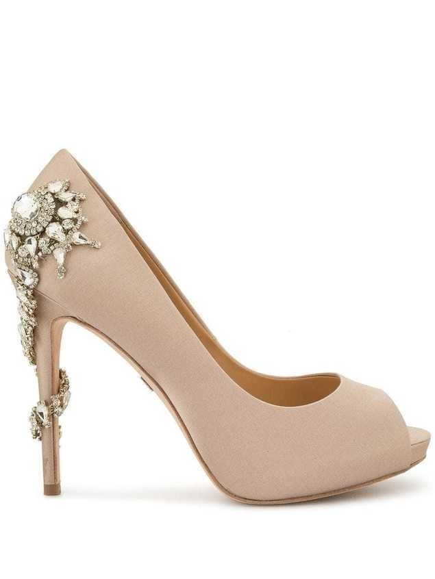 Badgley Mischka embellished open-toe sandals - PINK