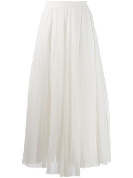 Ermanno Ermanno pleated tulle skirt - White