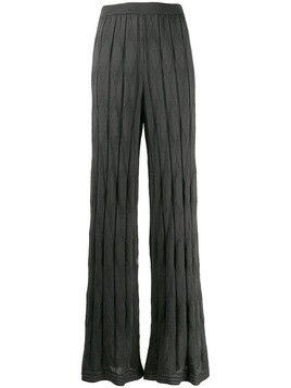 M Missoni pleated knit trousers - Grey