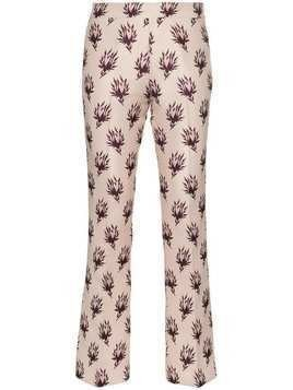 Giambattista Valli floral print straight trousers - Pink & Purple