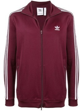 Adidas contrast logo zipped jacket - Red