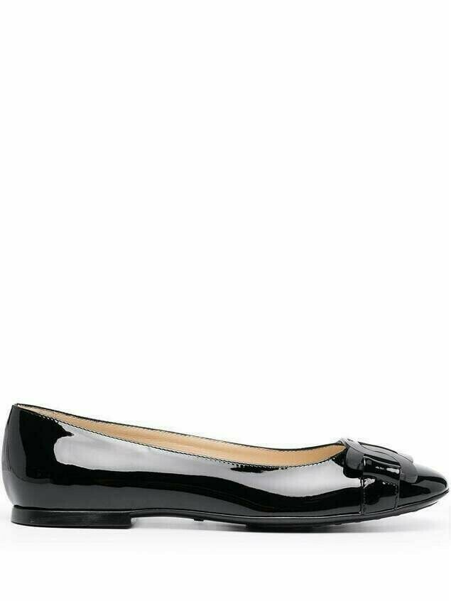 Tod's chain-toe ballerina shoes - Black