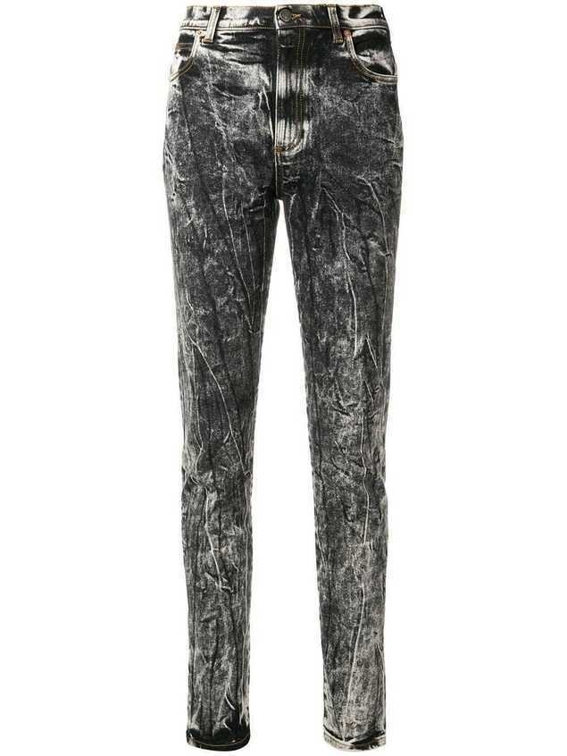 Gucci acid wash slim-fit jeans - Black