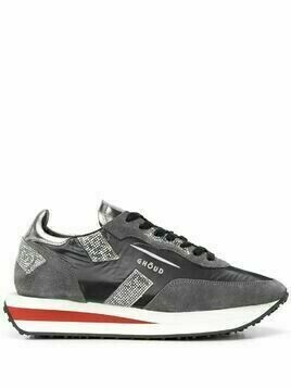 Ghoud panelled lace-up sneakers - Grey