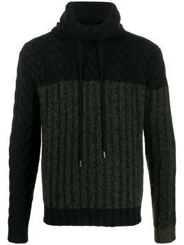 Lamberto Losani two-tone jumper - Black