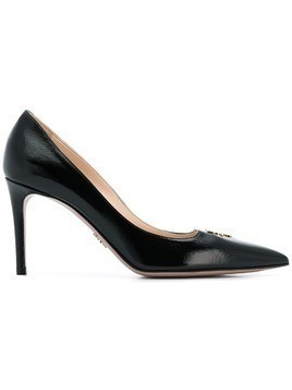 Prada logo plaque pumps - Black