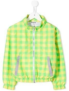 Duo Duo check jogging jacket - Green