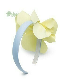 Il Gufo layered flower headband - Yellow