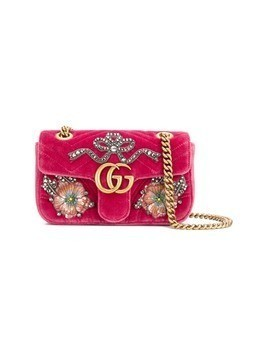 Gucci GG Marmont embroidered bag - Pink&Purple