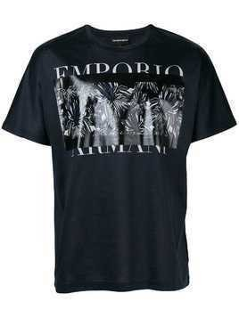 Emporio Armani graphic print T-shirt - Blue