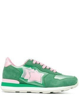 Atlantic Stars star patch sneakers - Green