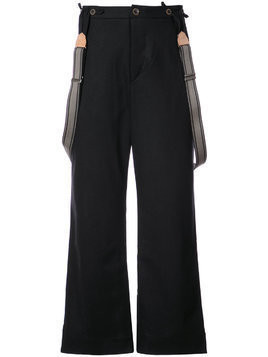 Individual Sentiments wide leg trousers - Black