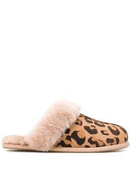 Ugg Australia leopard-print shearling slippers - Brown