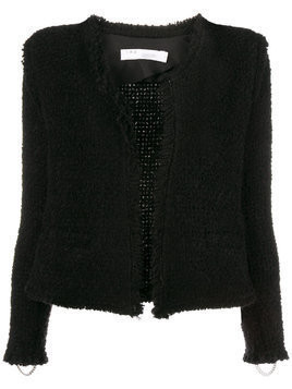 Iro fitted shearling jacket - Black